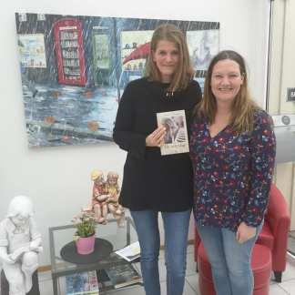Sammen med Nina, min fantastiske redaktør.